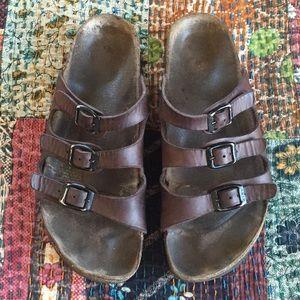 Birkenstock Florida 3 Strap Leather Sandals